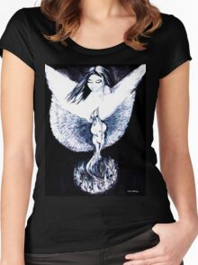 Phoenix Rising from Ashes Women's Fitted Scoop T-Shirt