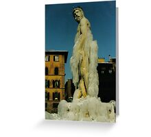 Ice Man, Firenze Greeting Card