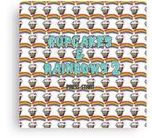 cupcakes & rainbows 2 Canvas Print