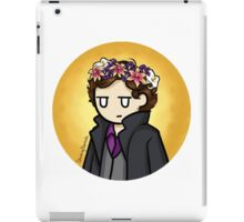 Sherlock in Flower Crown iPad Case/Skin