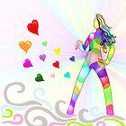 Raimbow lady of love by KERES Jasminka