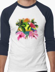 Palm Trees And Island Sunsets Men's Baseball ¾ T-Shirt