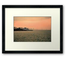 Sundown in Chi-Town Framed Print