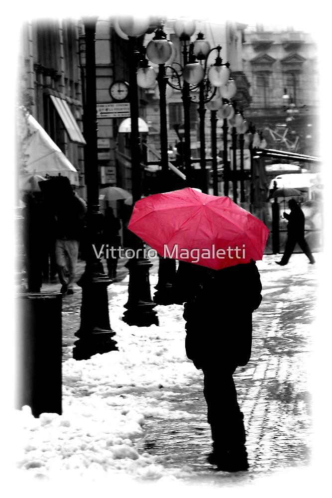 Pink Umbrella by Vittorio Magaletti