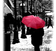 Pink Umbrella by Vittorio Magaletti
