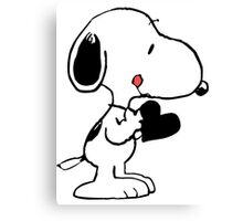 Snoopy's heart  Canvas Print
