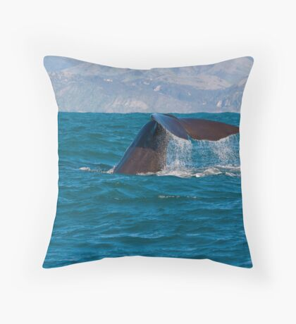 Whale Diving 3 Throw Pillow
