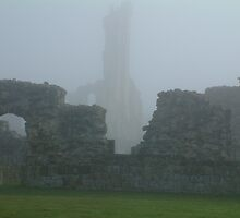 Byland Abbey  in the Mist by TREVOR34