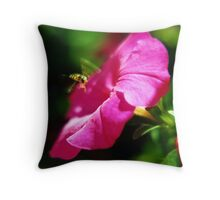 Hoverfly & Petunia Throw Pillow