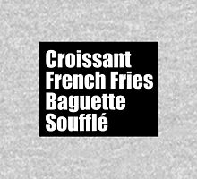 All the french foods Pullover