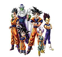 Dragonball z Charcters Photographic Print