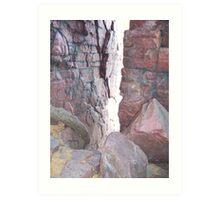 Devils Lake Rocks Art Print