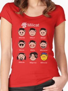 Ed Miliband - Milicat Women's Fitted Scoop T-Shirt