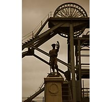 Miner at Woodthorn Colliery Photographic Print
