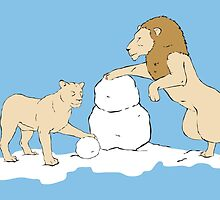 Snow Lions by Alrkeaton