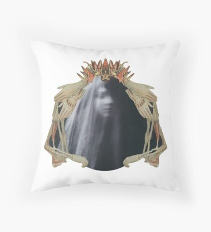 Queen of Darkness: Paper Bunnies & Light Witch  Throw Pillow