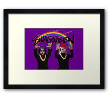 SwagQueen over the Rainbow Framed Print