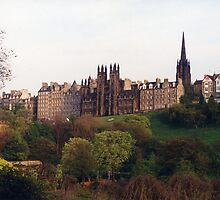 Edinburgh Skyline, Princes Street Gardens by Mike Oxley