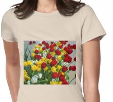 LADY TULIPS AT PLAY Womens Fitted T-Shirt