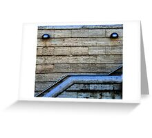 Stairs, Lights, Action Greeting Card