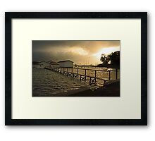 Mosman Bay Boatsheds At Dawn  Framed Print
