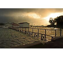 Mosman Bay Boatsheds At Dawn  Photographic Print
