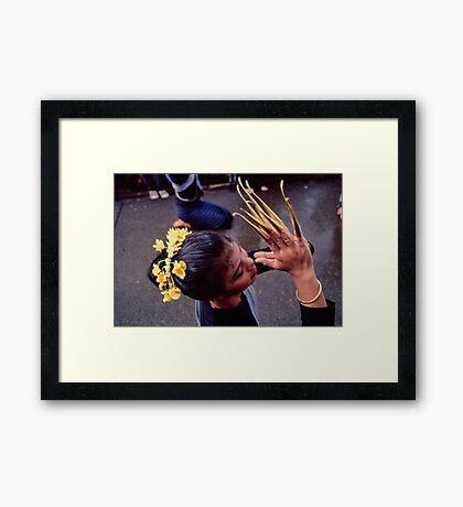 Fingernail dancer, Chiang Mai Framed Print