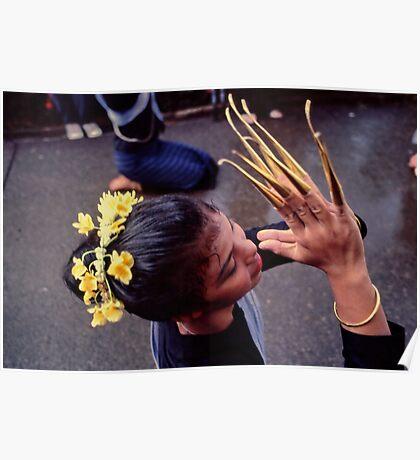 Fingernail dancer, Chiang Mai Poster