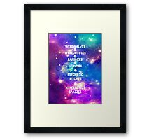 Teen Wolf & Galaxy & Framed Print
