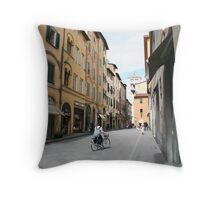 Streets of Lucca Throw Pillow