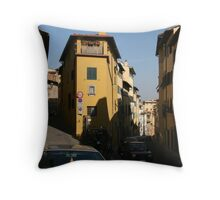 Streets of Florence Throw Pillow