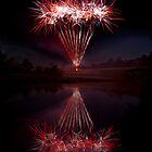 1033 Fireworks By The Lake by Ray Mosteller