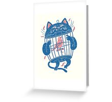 The Cat-Cage Greeting Card