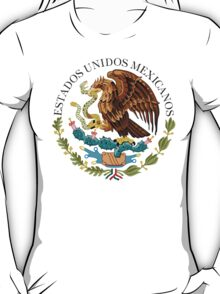 Close up of seal in the national flag of Mexico T-Shirt