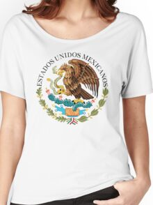Close up of seal in the national flag of Mexico Women's Relaxed Fit T-Shirt