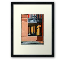 Deli Boys - people oil painting Framed Print