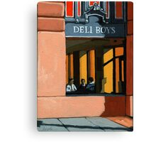 Deli Boys - people oil painting Canvas Print
