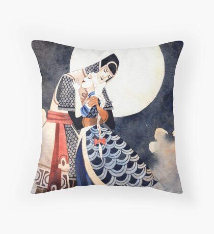 Good Night, My Knight Throw Pillow
