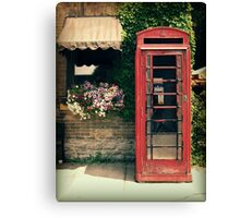 Red Phone Booth Canvas Print