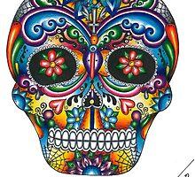 Happiness Skull by Marta Alvim