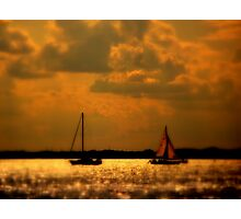 WE SAILED IN  A   GOLDEN    ......  Photographic Print