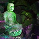 Buddha of Compassion at Morris Arboretum 2 by Kevin J Cooper