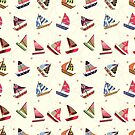 Nautical Little Ships Pattern by Anaa