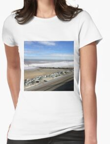 The seaside  Womens Fitted T-Shirt