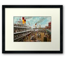 Boat - A vacation to remember - 1901 Framed Print