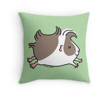 Leaping Guinea-pig ... Grey and White Throw Pillow