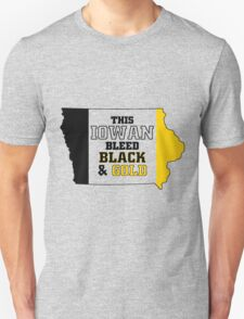 this iowan bleed black and gold T-Shirt