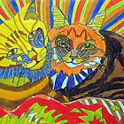 261 - TWO COOL CATS - DAVE EDWARDS - COLOURED PENCILS - 2009   by BLYTHART