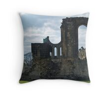 Byland Abbey 2a Throw Pillow