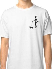 Flaunting The Pooch (peach) - Dachshund Sausage Dog Classic T-Shirt